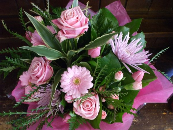 Pretty in Pink! Hand Tied Bouquet
