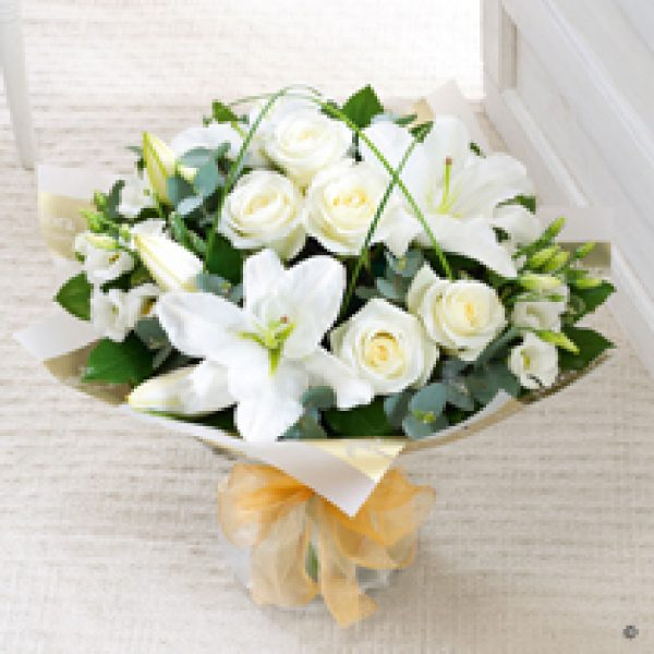 Lily and Rose Hand Tied Bouquet
