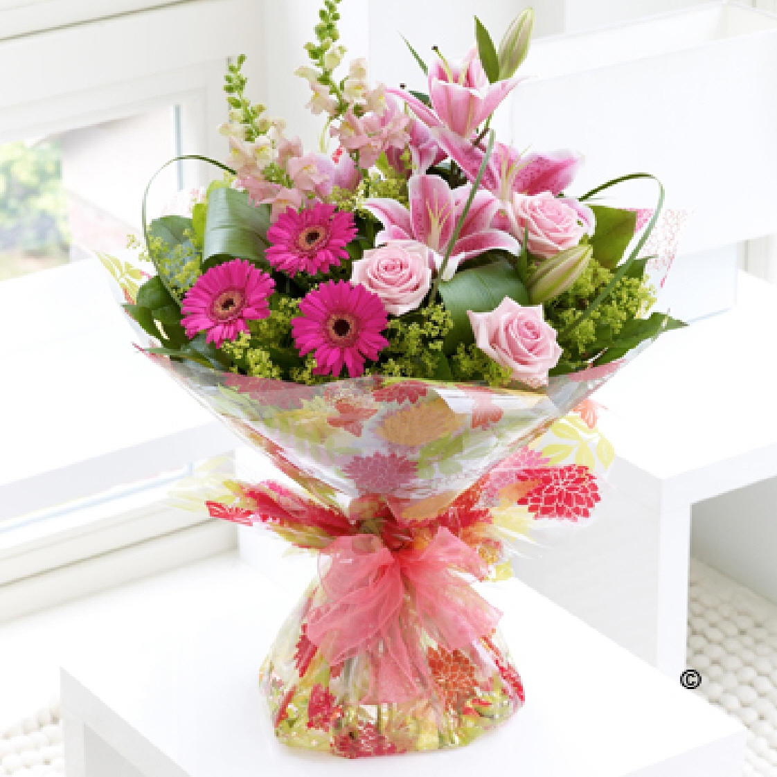 Pink Summer Hand-tied Bouquet