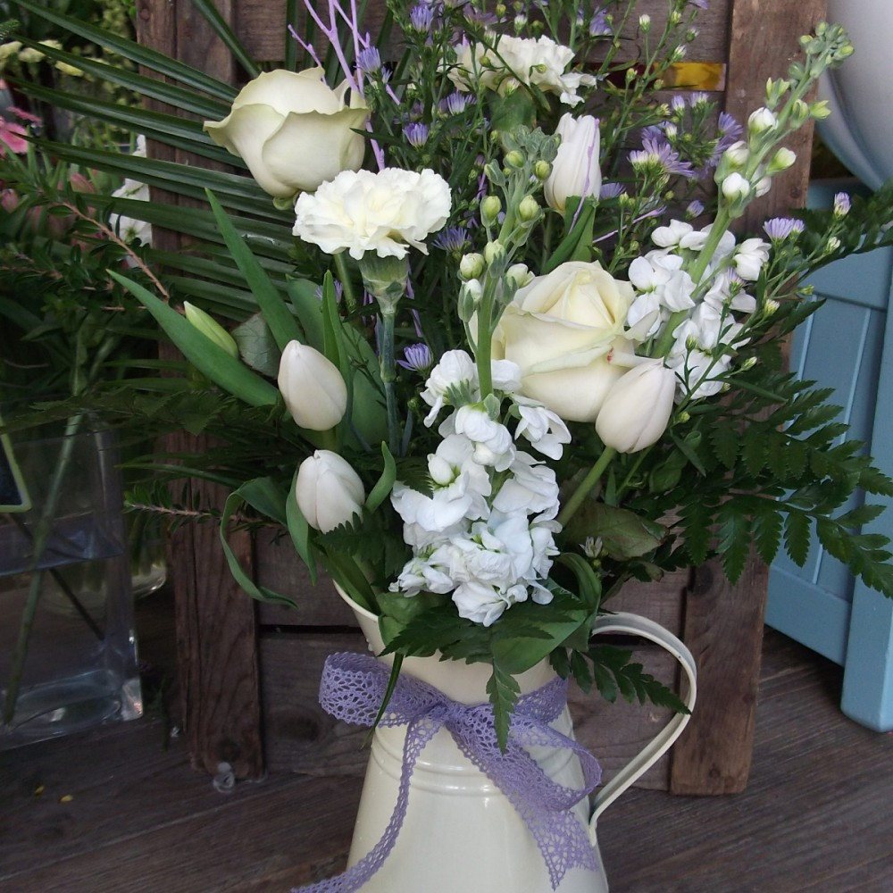 Country style scented Jug arrangement