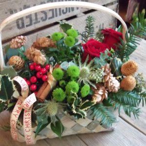 Christmas Hops Basket Arrangement